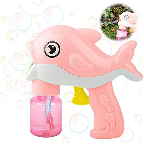 Bubble Machine,Bubble Maker,Pistola a Bolle di Sapone,Macchina per Bolle per Bambini,Macchina per Fare Bolle,Bubble Machine Toys,Bubble Maker,Bolle di Sapone Pistola Giocattolo (Rosa)