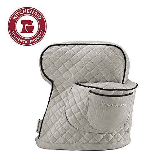 KitchenAid Fitted Stand Mixer Cover, Silver Frost