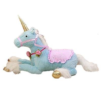 sofipal Giant Stuffed Unicorn Toy,Large Blue Unicorns Plush Doll Huge Horse Stuffed Animal Gifts for Kids,Birthday,Valentines