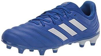 adidas Men s Copa 20.3 Firm Ground Soccer Shoe Blue/Silver/Blue 10