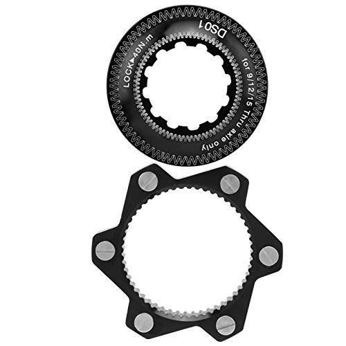 Alomejor1 Freno de Bicicleta Bloqueo Central Aleación de Aluminio 6 Pernos Juego de adaptadores de Rotor de Disco de Bicicleta para Bicicleta de montaña(Negro)