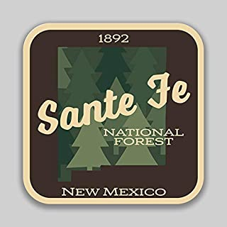 JMM Industries Santa Fe National Forest New MexicoVinyl Decal Sticker Car Window Bumper 2-Pack 4-Inches 4-Inches Premium Quality UV -Protective Laminate PDS1460