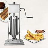 Máquina de llenado de salchichas Manual de 7L / 5L, máquina de fabricación de churros Manual comercial, extrusora Manual de churros de acero inoxidable,5L