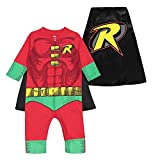 Warner Bros. DC Comics Justice League Robin Baby Boys Zip-Up Caped Costume Coverall (18 Months)