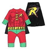 Warner Bros. DC Comics Mono y Capa de Robin de Liga de la Justicia con Cierre de Cremallera -...