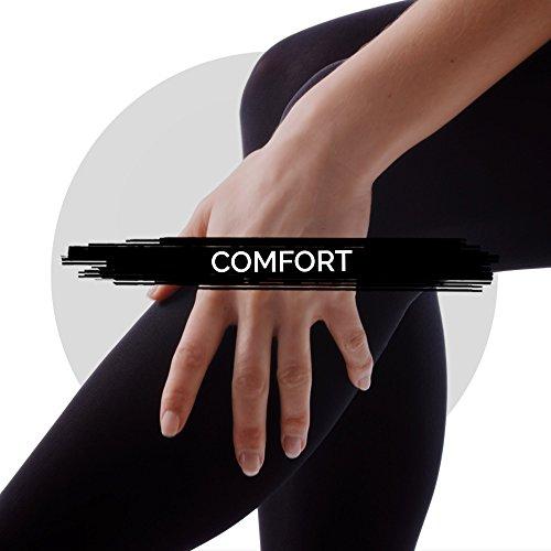 Scholl Light Legs Compression Tights for Women, 60 Denier, Black, Small