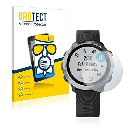 BROTECT Protector Pantalla Cristal Mate Compatible con Garmin Forerunner 645/645 Music Protector Pantalla Anti-Reflejos Vidrio, AirGlass