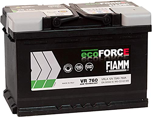 Dettagli su BATTERIA AUTO FIAMM VR760 ecoFORCE AGM START&STOP 70Ah 760A 278x175x190