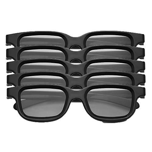 Docooler VQ163R Pack de 5 Gafas 3D pasivas polarizadas para 3D TV Cines Reales 3D para Sony Panasonic