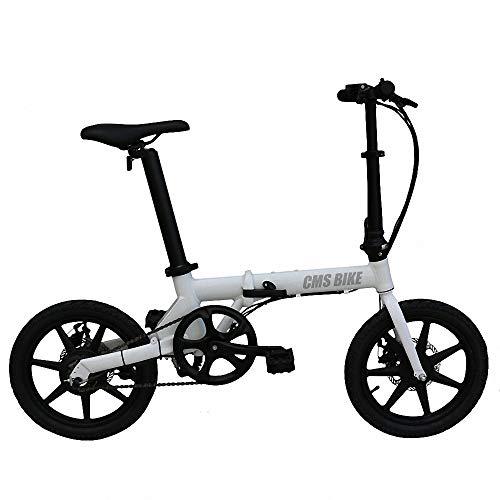 Mini-elektrische voertuigen voor volwassenen, afneembare lithium-ion-accu voor zadelbuis met grote inhoud, opvouwbaar, veilig voor fietsen, 3 werkmodi.