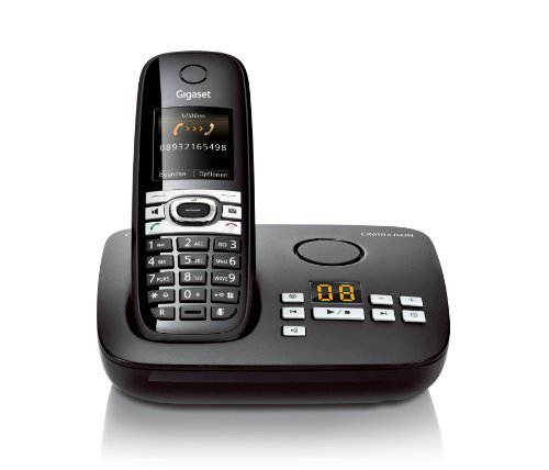 Gigaset CX610A ISDN Dect-Schnurlostelefon mit Anrufbeantworter für den ISDN Anschluß, Babyphonefunktion, schwarz by Gigaset