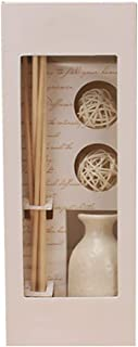 Xiton 1 Set Scented Oil Reed Diffuser Handmade Rattan Wood Ceramic Vases Bedroom Aroma Diffused Natural Jasmine Fragrance Diffuser For Stress Relief Ideal Home Decoration