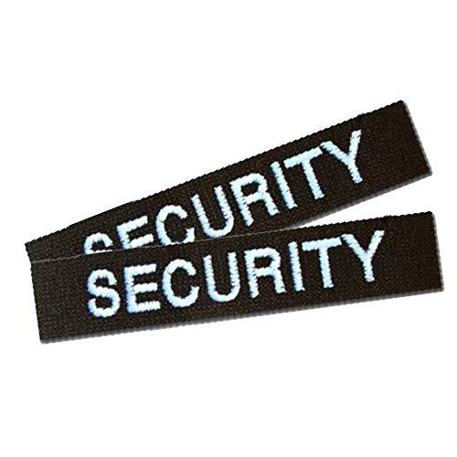 Namensschild Namensband 2er Satz Security-Schwarz m. Klett angeklebt