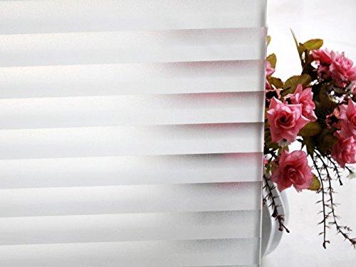 'home di tamia finestra statica pellicola 90% UV protezione solare anche di Vista Custodia Pellicola Vetro pitture'Tenda veneziana, 1pezzi, milchweiss, halbtransparent, VB mowh-qbs5