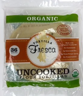 Organic Uncooked Flour Tortillas