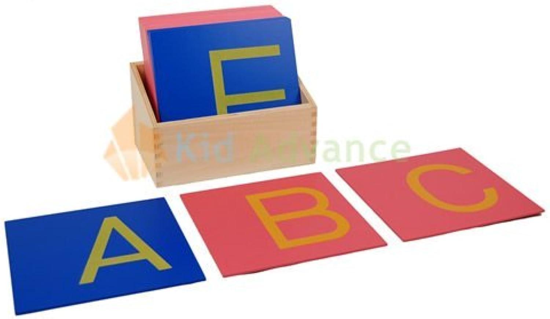 Montessori Capital Case Sandpaper Letters Print w  Box by Kid Advance