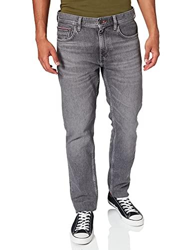Tommy Hilfiger Herren Straight Denton STR Tulsa Grey Jeans, W34 / L30