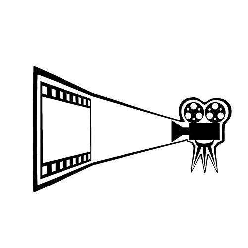 FAFPAY Autoaufkleber 15,3 cm * 9,7 cm schöne Kinofilmkamera Kinofilm Vinyl schwarz/Silber Autoaufkleber C22-0852Schwarz