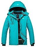 Wantdo Women's Winter Snowboard Jacket Windproof Snow Coat Blending Teal Large