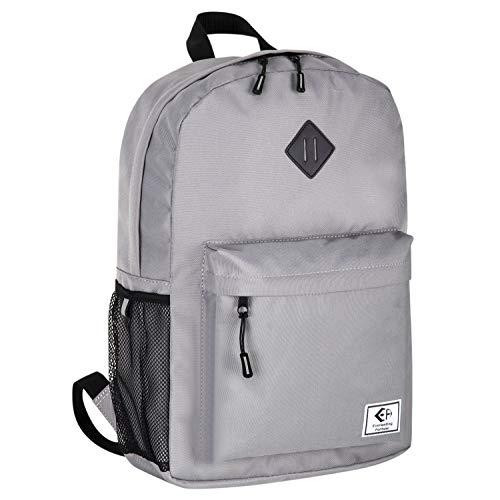 """Rucksack Damen Herren für 14"""" Laptop – Lässiger Schulrucksack Ergonomischer Daypack Backpack für Schüler Alltag Outdoor Wandern Reise 20L (Grau S)"""