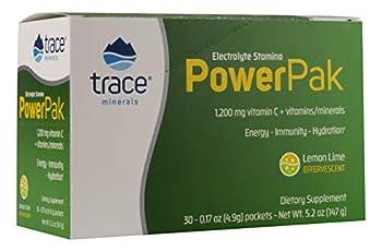 Trace Minerals Electrolyte Stamina Power Pak 1200 Mg Vitamin C Non-GMO 30 Count