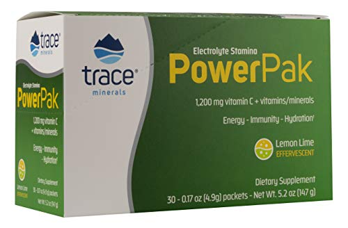 Trace Minerals | Power Pak Vitamin C Zitrone/Limette | 30 Päckchen | 1.200mg Vitamin C