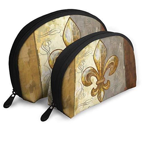 Fleur De Lis Retro schelpdieren cosmetische tas shell vorm draagbare opslag zakken luxe toilettas
