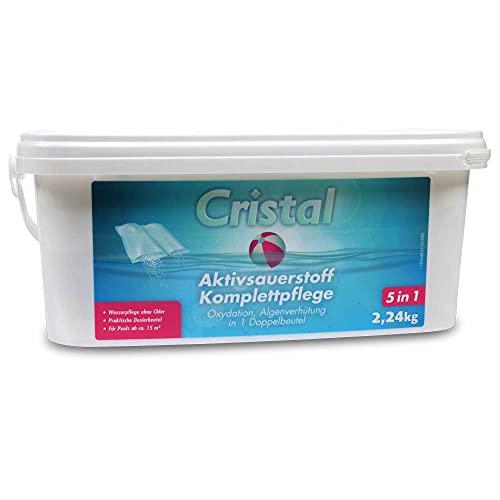 Cristal Aktivsauerstoff Komplettpflege 2,24 kg - chlorfreie Poolpflege