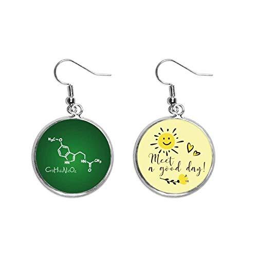 Chemistry Kowledge Struktur-Formel Ohrhänger, Sonnenblumen-Ohrringe, Schmuck