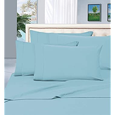 Thread Spread True Luxury 100% Egyptian Cotton - Genuine 1000 Thread Count 4 Piece Sheet Set- Color Light Blue,Size King - Fits Mattress Upto 18'' Deep Pocket