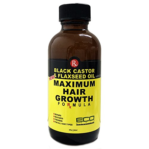 Price comparison product image Eco Style Black Castor and Flaxseed Maximum Hair Growth Oil,  2 Ounce