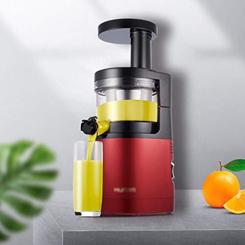Slow exprimidor masticación Exprimidor Máquina, exprimidores de fruta entera y verduras, de alta nutrición Licuadora fácil de limpiar, Cold Press Exprimidor Con Quiet la función motora y reversa