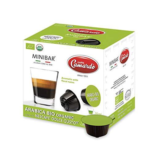 CAFFÈ CAMARDO 30 kompostierbaren Kapseln mit Dolce Gusto®*-Kaffeemaschine kompatible – ARABICA BIO ORGANIC Mischung – USDA Bio-zertifizierter Kaffee - Made in Italy – 12 Schachteln mit 10 Kapseln