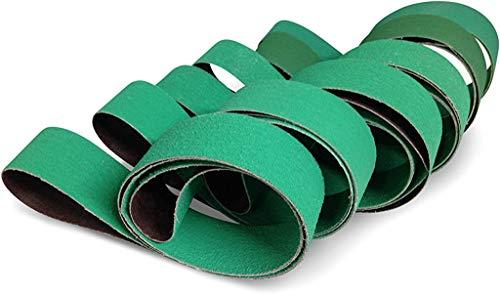 "2"" X 42"" Knife Makers Fine Grit Sanding Belts, 6 Pack Assortment"