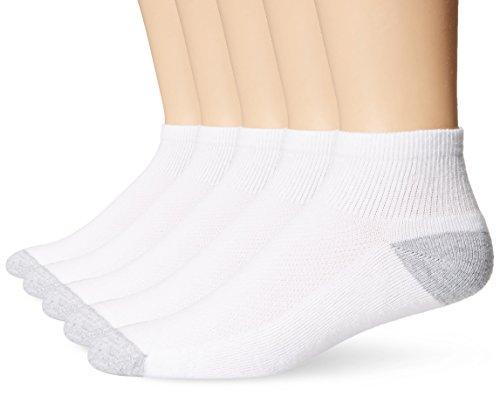 Hanes Mens Ultimate X-Temp Ankle Socks (U15/5) -WHITE -10-13 -5PK