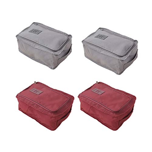 prasku Pack of 4 Home Sports Shoe Storage Bags for Home,