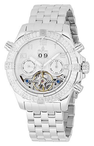 Burgmeister Armbanduhr für Herren mit Analog Anzeige, Automatik-Uhr mit Edelstahlarmband - wasserdichte Herrenuhr mit zeitlosem, schickem Design - Klassische Uhr für Männer - BM356-111 Köniz