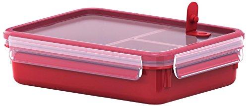Tefal K3102412 - Masterseal Micro - Boîte spécial micro-ondes à compartiments - 1.2 L - Rouge