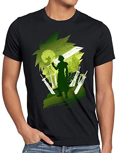 style3 Midgar Fantasy Herren T-Shirt Cloud Chocobo Sephiroth, Größe:M