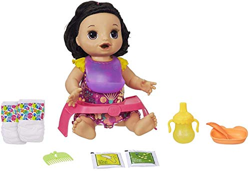 Baby Alive Happy Hungry Baby Black Straight Hair Doll, Makes 50+ Sounds & Phrases, Eats & Poops, Drinks & Wets, For Kids Age 3 & Up JungleDealsBlog.com
