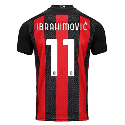 Ibrahimović #11 AC Milan Home Jersey 20-21 (L) Red/Black