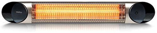 veito Blade Design Infrarot Heizstrahler, 2000 Watt, Fernbedienung, 4 Heizstufen Dimmer, Wintergarten, Terrassenstrahler, Infrarotstrahler Elektrisch