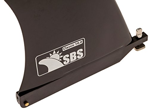 """Sbs 10"""" surf & sup fin - free no tool fin screw - 10 inch center fin for longboard, surfboard & paddleboard 7 classic fin template: this is our largest fin template, designed for center fins for longboards and paddle boards. Medium build and rake make this design the foundation for further fin template exploration. This time tested classic foil paddles easy and provides good hold in both flat water paddling and for turns and noseriding specifications: depth: 10"""", base: 6. 5"""", rake: 28° / material: glass filled nylon compatibility: works on any sup or surfboard with a standard 8. 5"""" or 10. 5"""" fin box. Known incompatibilities: some inflatable sups such as the bali solstice, aquamarine spk2, see our compatibility image for more."""