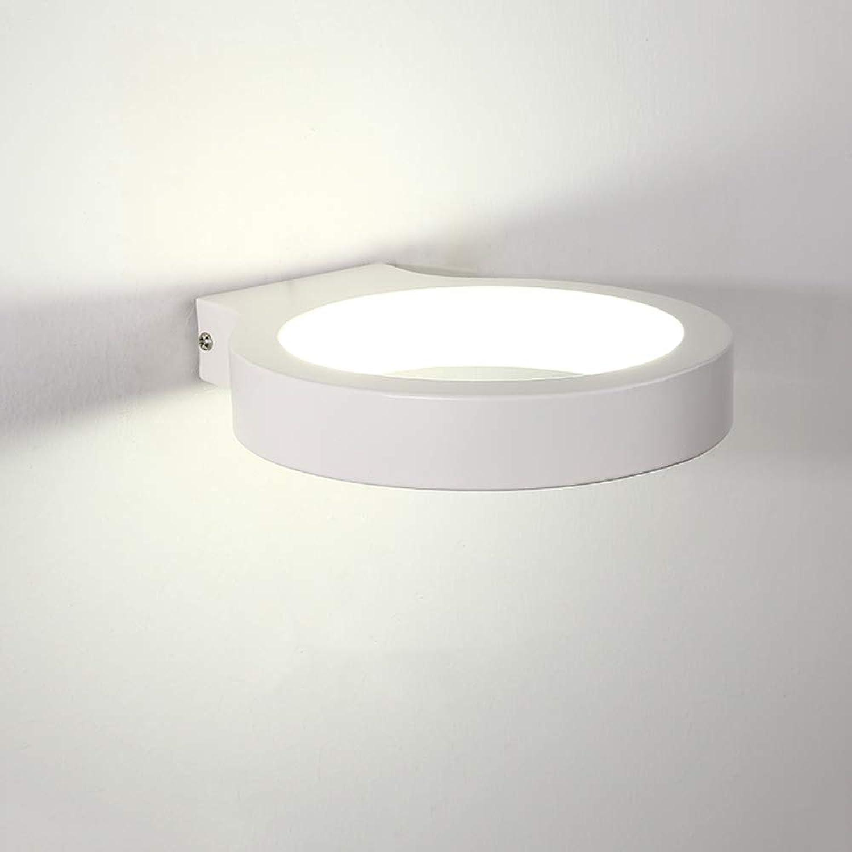 Ganeep Flur führte 10W Wand-Beleuchtungs-Acrylweier Ring-Wandlampen moderne zeitgenssische an der Wand befestigte Wandleuchten-Nachttischlampe für Schlafzimmer-runde Eisen-Kunst-Wand-Leuchte