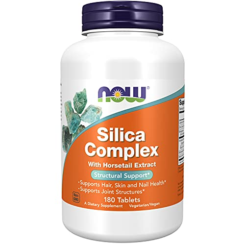NOW Supplements, Silica Complex with Horsetail Extract, Supports Hair, Skin and Nail Health*, Structural Support*, 180 Tablets