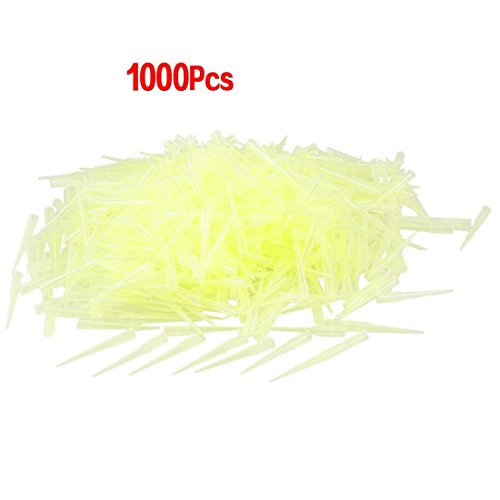 copapa 1000pcs claro amarillo laboratorio 200ul Lab Liquid pipeta puntas de pipetas para transferir pequeñas cantidades de líquidos