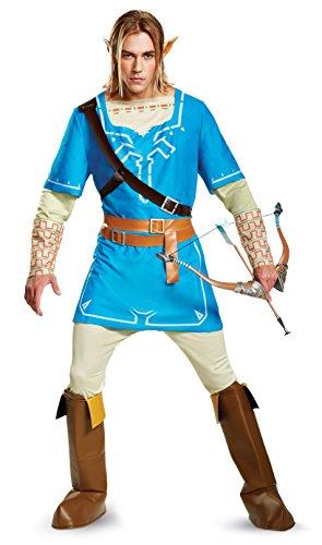 Legend of Zelda Link Breath of the Wild Mens Deluxe Fancy dress costume X-Large