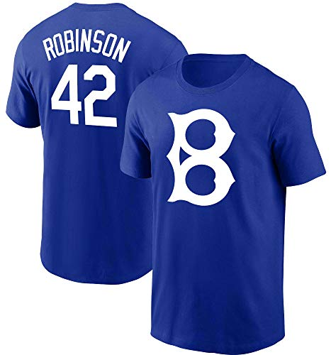 Jackie Robinson Brooklyn Dodgers #42 Blue Youth 8-20 Cooperstown Name and Number Player T-Shirt (8)