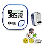 GolfBuddy Voice 2 Golf GPS/Rangefinder Bundle with 1 Magnetic Hat Clip and 5 Ball Markers