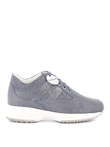 Hogan Luxury Fashion Donna HXW00N02011NLZU221 Blu Pelle Sneakers | Primavera-Estate 20